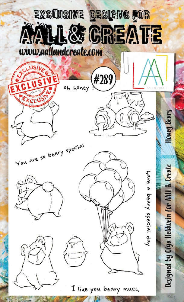 AALL & Create HONEY BEARS 289 A6 Clear Stamps aal00289 zoom image
