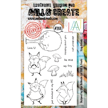 AALL & Create FOXY FRIENDS 288 A6 Clear Stamps aal00288