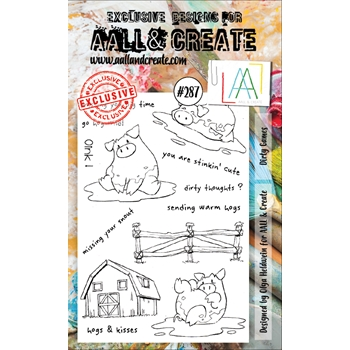 AALL & Create DIRTY GAMES 287 A6 Clear Stamps aal00287
