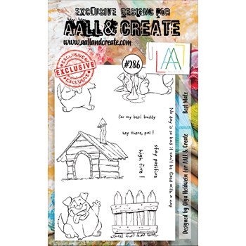 AALL & Create BEST MATE 286 A6 Clear Stamps aal00286