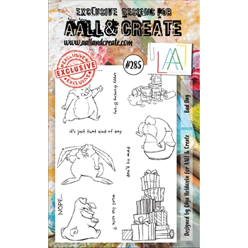AALL & Create BAD DAY 285 A6 Clear Stamps aal00285