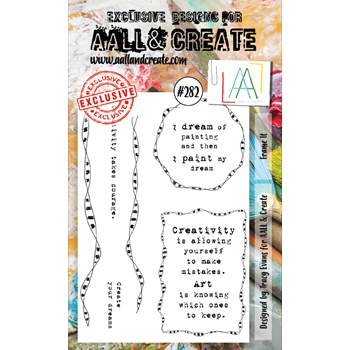 AALL & Create FRAME IT 282 A6 Clear Stamps aal00282