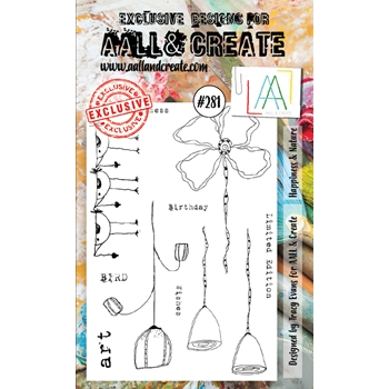 AALL & Create HAPPINESS AND NATURE 281 A6 Clear Stamps aal00281