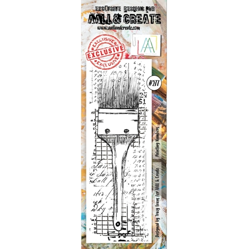AALL & Create PAINTING NUMBERS BORDER 277 Clear Stamp aal00277 Preview Image