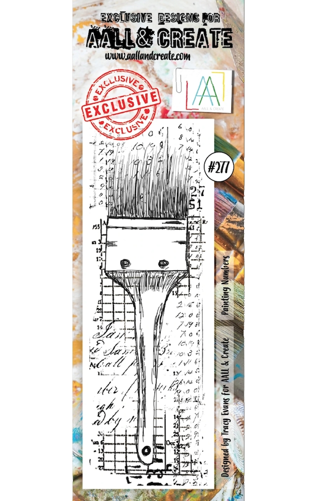 AALL & Create PAINTING NUMBERS BORDER 277 Clear Stamp aal00277 zoom image