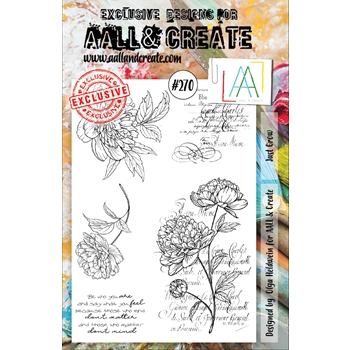 AALL & Create JUST GROW 270 A5 Clear Stamps aal00270