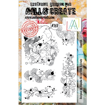 AALL & Create FLOURISH 269 A5 Clear Stamps aal00269