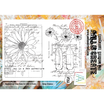 AALL & Create DAISY ELEGANCE 266 A4 Clear Stamps aal00266