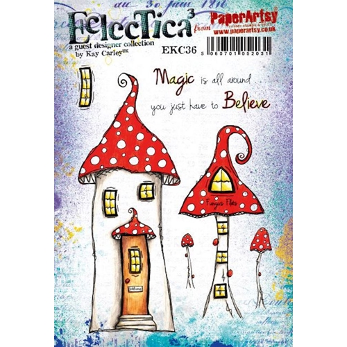 Paper Artsy ECLECTICA3 KAY CARLEY 36 Cling Stamp ekc36 Preview Image