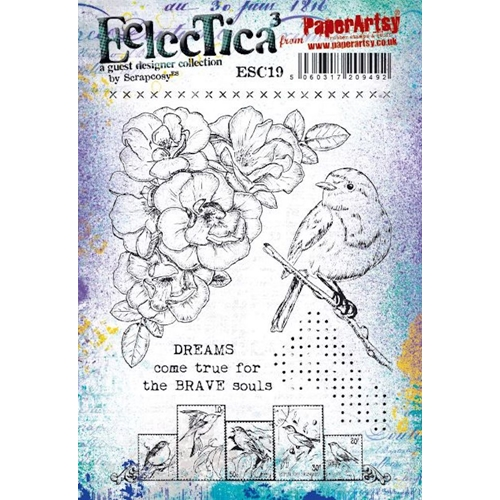 Paper Artsy ECLECTICA3 SCRAPCOSY Cling Stamps esc19 Preview Image