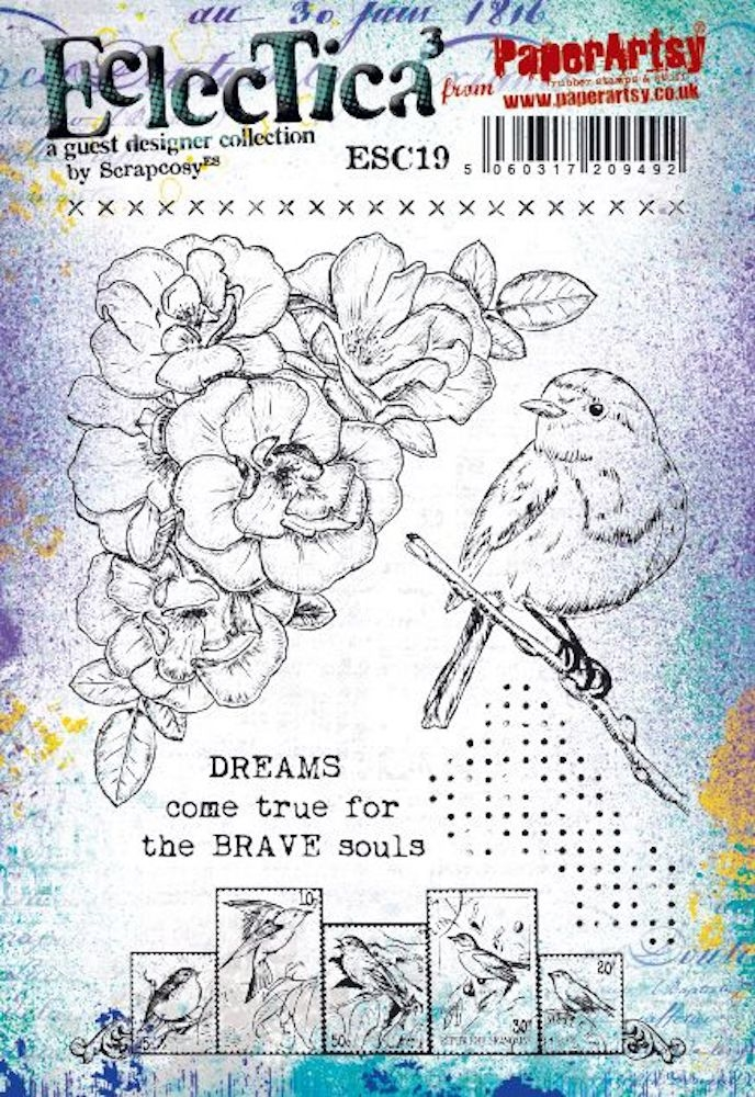 Paper Artsy ECLECTICA3 SCRAPCOSY Cling Stamps esc19 zoom image