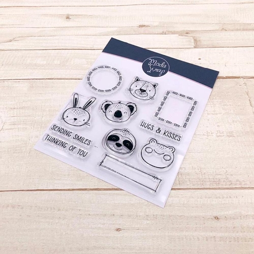 ModaScrap Clear Stamps POSTAGE HUGS mstc1038 Preview Image