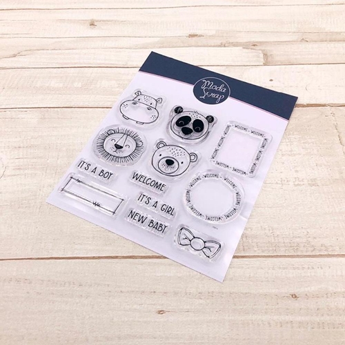 ModaScrap Clear Stamps POSTAGE NEW BABY mstc1036 Preview Image