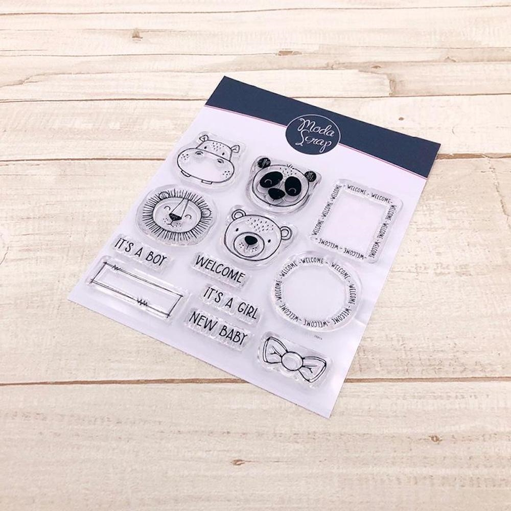 ModaScrap Clear Stamps POSTAGE NEW BABY mstc1036 zoom image