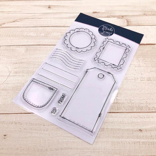 ModaScrap Clear Stamps POSTAGE BITS mstc1035 Preview Image