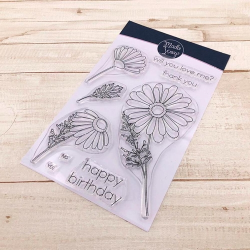 ModaScrap Clear Stamps DAISY mstc1034 Preview Image