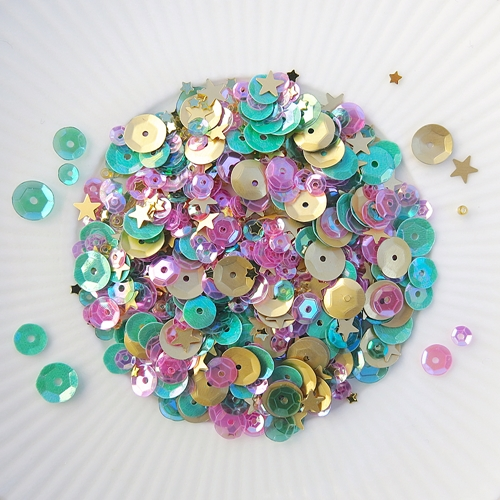 Little Things From Lucy's Cards TROPICAL Sequin Shaker Mix LB310 Preview Image