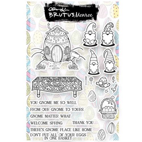 Brutus Monroe EGGCELLENT GNOMES Clear Stamps bru2378 Preview Image