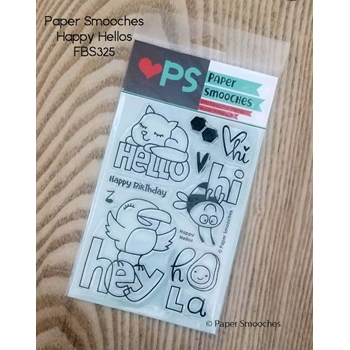 Paper Smooches HAPPY HELLOS Clear Stamps fbs325
