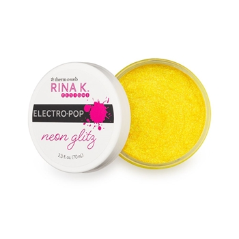 Therm O Web Rina K Designs HELLO YELLOW Neon Glitz Glitter Gel Electro-Pop 18169