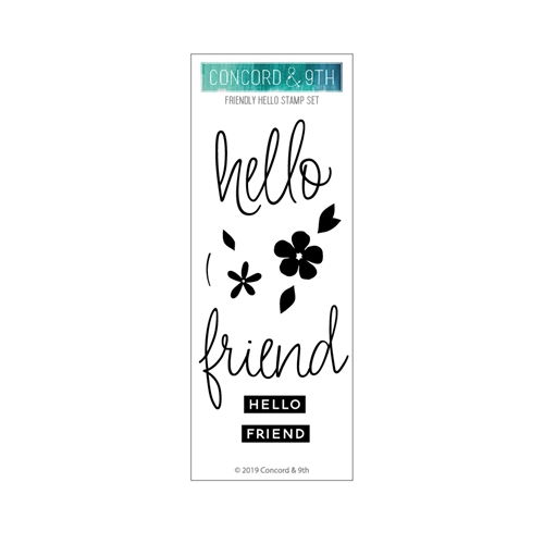 Concord & 9th FRIENDLY HELLO Clear Stamp Set 10707 Preview Image