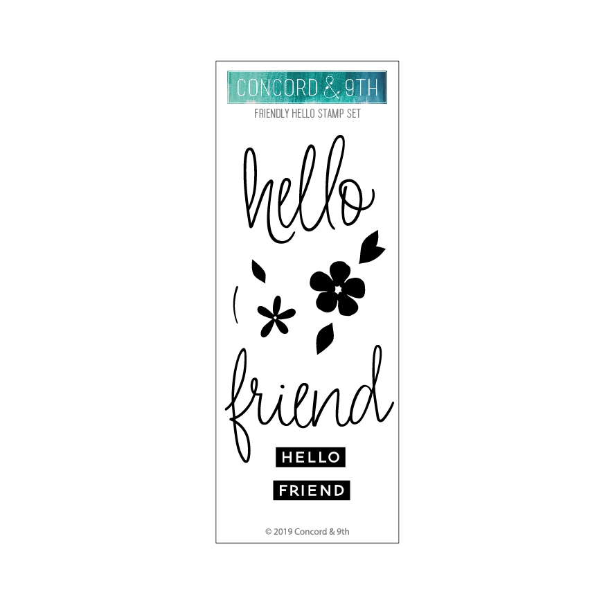 Concord & 9th FRIENDLY HELLO Clear Stamp Set 10707 zoom image