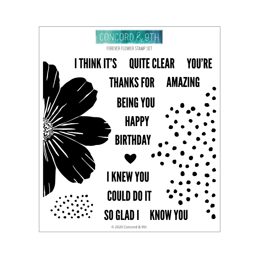 Concord & 9th FOREVER FLOWER Clear Stamp Set 10776 zoom image