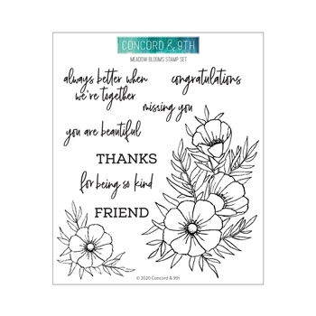 Concord & 9th MEADOW BLOSSOMS Clear Stamp Set 10779
