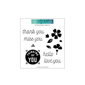 Concord & 9th STITCHED BLOOMS Clear Stamp Set 10785