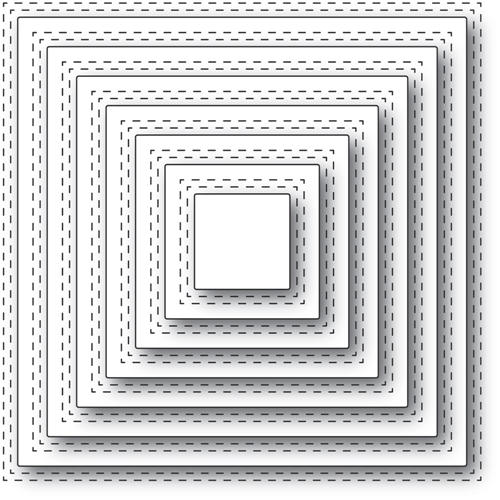 Memory Box DOUBLE STITCH SQUARE CUT OUT Craft Dies 94362 Preview Image