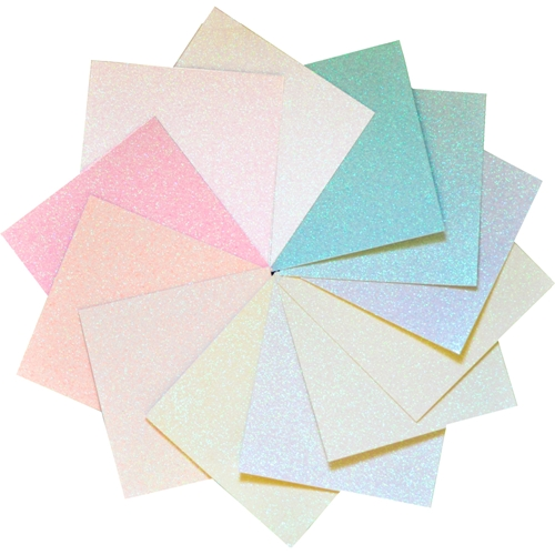 Memory Box DELICATE PASTEL GLITTER 6x6 Paper Pack gp1001 Preview Image