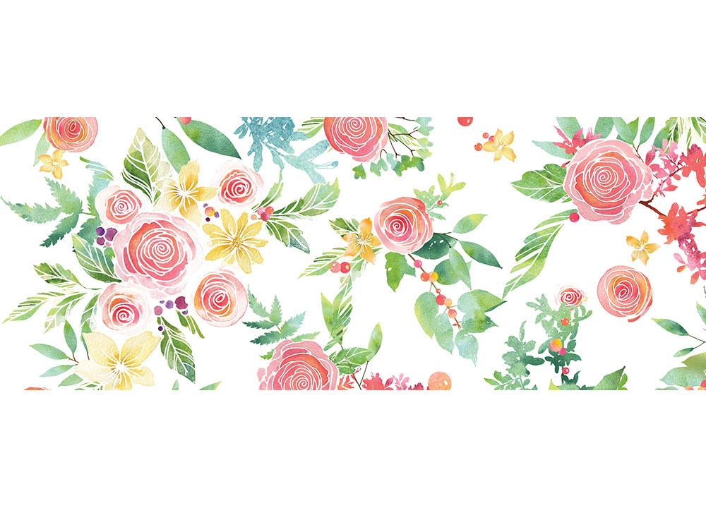 Memory Box ROSE BOUQUET Wide Washi Tape wt499 zoom image