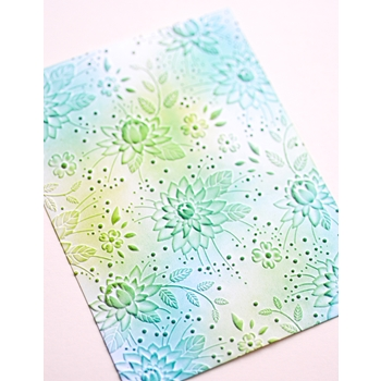 Memory Box CHRYSANTHEMUM FIELD 3D Embossing Folder ef1001