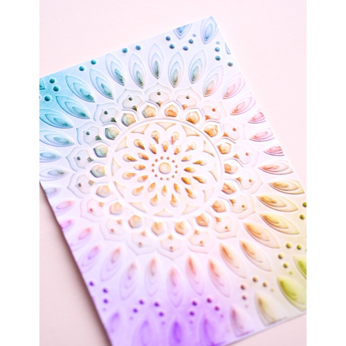 Memory Box SERENE MANDALA 3D Embossing Folder ef1004 Preview Image
