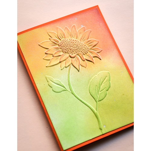 Memory Box MAGNIFICENT SUNFLOWER 3D Embossing Folder ef1008 Preview Image