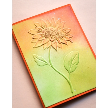 Memory Box MAGNIFICENT SUNFLOWER 3D Embossing Folder ef1008