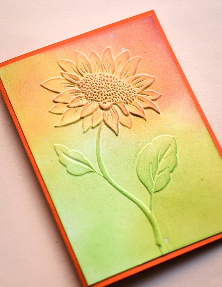 Memory Box MAGNIFICENT SUNFLOWER 3D Embossing Folder ef1008 zoom image