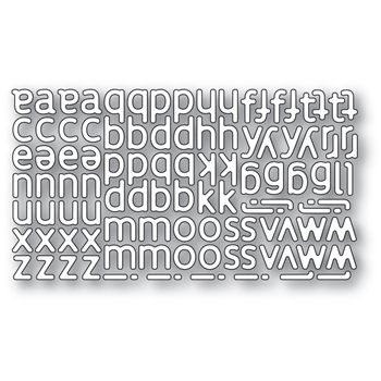 Poppy Stamps POETIC LOWERCASE ALPHABET Craft Dies 2332