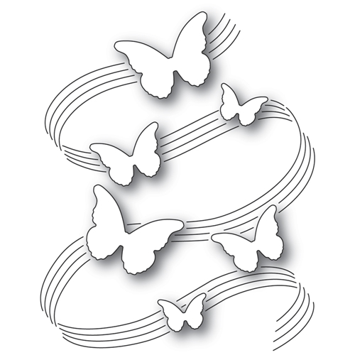 Poppy Stamps BUTTERFLY SYMPHONY Craft Die 2334 Preview Image