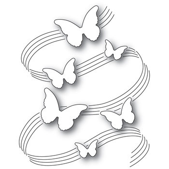 Poppy Stamps BUTTERFLY SYMPHONY Craft Die 2334
