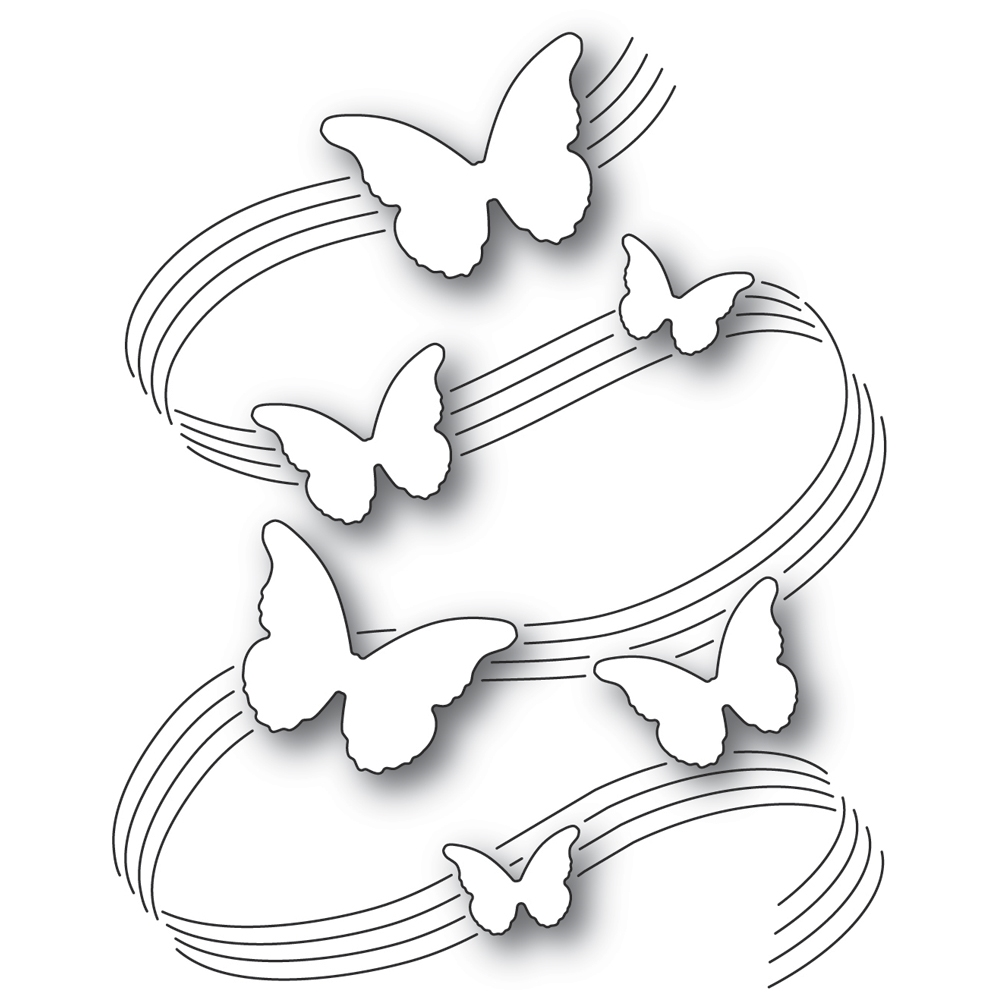 Poppy Stamps BUTTERFLY SYMPHONY Craft Die 2334 zoom image