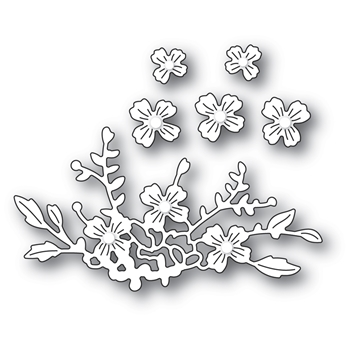 Poppy Stamps FLORAL CLUSTER Craft Dies 2338