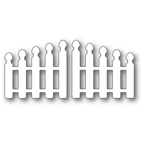 Poppy Stamps POINTY PICKET DOUBLE GATE Craft Dies 2349 Preview Image