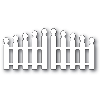 Poppy Stamps POINTY PICKET DOUBLE GATE Craft Dies 2349