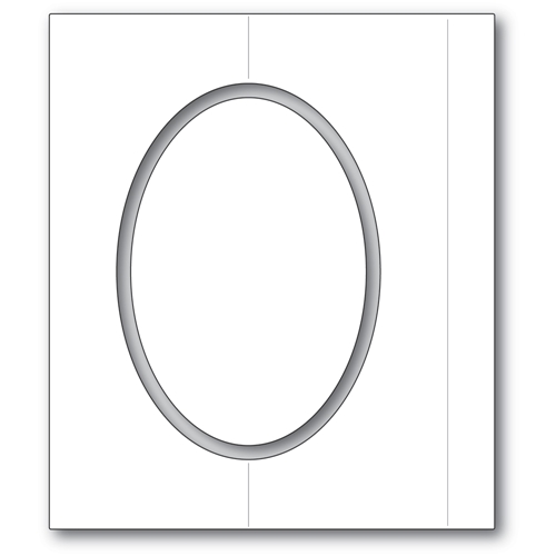 Poppy Stamps OVAL FOLD FRAME Craft Dies 2359 Preview Image