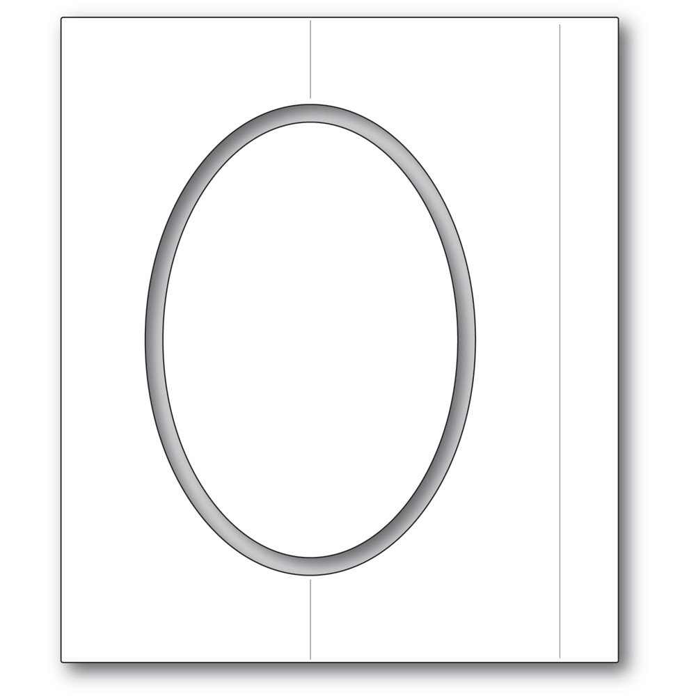 Poppy Stamps OVAL FOLD FRAME Craft Dies 2359 zoom image