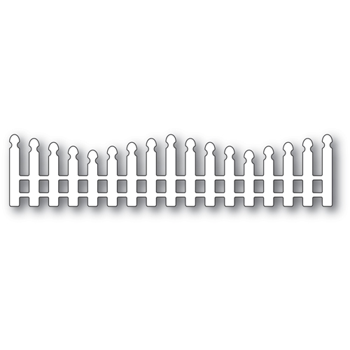 Poppy Stamps WAVY LONG PICKET FENCE Craft Die 2352 Preview Image