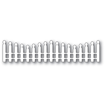 Poppy Stamps WAVY LONG PICKET FENCE Craft Die 2352