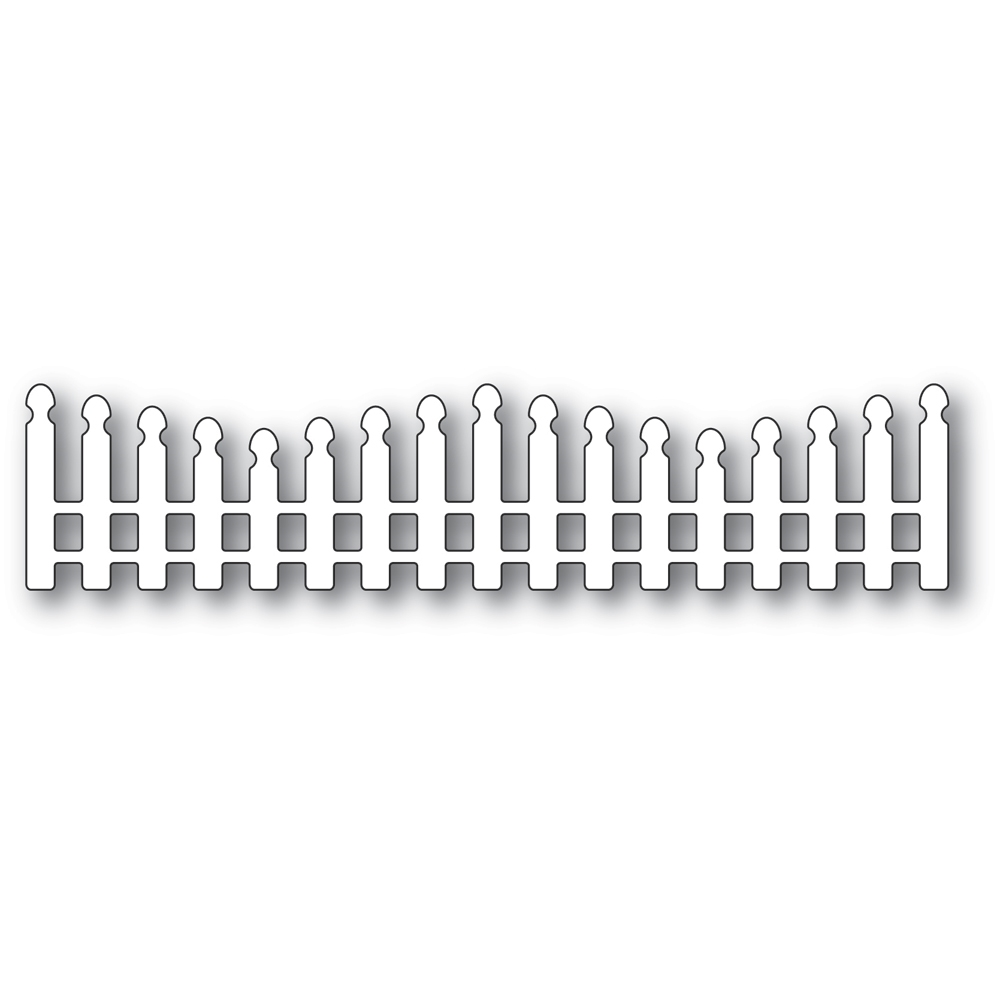 Poppy Stamps WAVY LONG PICKET FENCE Craft Die 2352 zoom image