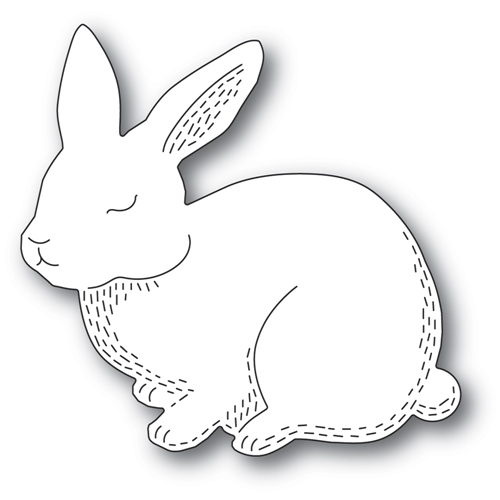 Poppy Stamps WHITTLE CUTIE RABBIT Craft Die 2362 Preview Image